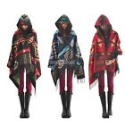 Bohemian Jacket Women Toggle Cape Coat Fringe Poncho Hoodie Hooded Scarf Shawl