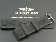 SILICONE RUBBER STRAP FOR BREITLING SUPEROCEAN CHRONO NAVITIMER WATCH 22MM