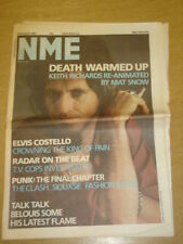 NME 1986 FEB 22 KEITH RICHARDS ELVIS COSTELLO THE CLASH