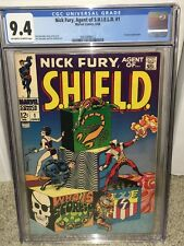 Nick Fury #1 CGC 9.4 1968 Agent of Shield! Avengers! NM! F10 212 cm NEW CASE!