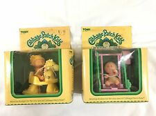 Vintage Tomy Cabbage Patch Kids Wind Up Toys Rocking Horse, Swing, Cradle In Box