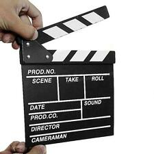 Director Video Scene Clapperboard TV Movie Clapper Board Film Slate Cut Prop CGY