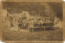 Early and Unusual cabinet photo Meal time at Camp tents Hanover N.H