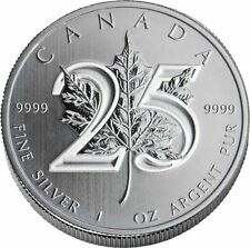 Maple Leaf 25e anniversaire 1 once argent 2013 25th Anniversary Maple Leaf 1 oz