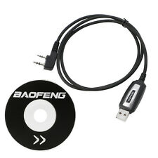 USB 2 Pins Programing Cable Program Software CD for Baofeng UV-5R BF-888S Radios