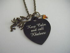 Game of Thrones Keep Calm and call KHALEESI 'Mother of Dragons' Necklace Love