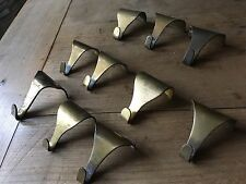 Vintage Brass Picture Rail Hook Moulding Hanger Frame Mirror Antique  £3 each