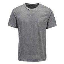 Warm and super handsome man's favorite sports cool dry dark gray T-shirt S size