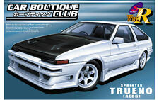 Aoshima 1/24 scale JDM model car kit - Car Boutique Club Toyota AE86 Trueno
