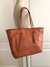 Cole Haan Acorn Brown Leather Large Rumey Tote Shopper Shoulder Bag CHR11354 NWT