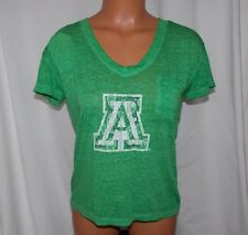 New NCAA ARIZONA WILDCATS Ladies Small THE GAME BURNOUT POCKET TEE Emerald Green