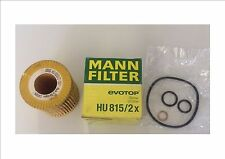 BMW 1 SERIES/3 SERIES OIL FILTER MANN FILTER HU815/2X