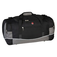 Swiss Gear Duffel Gym Sport Travel Weekend Camp Bag - Black With Grey MSRP $80