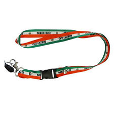 MEXICO COUNTRY FLAG LANYARD KEYCHAIN PASSHOLDER ..NEW
