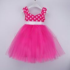 Halloween Kid Girl Baby Minnie Mouse Party Costume Polka Dots Ballet Tutu Dress