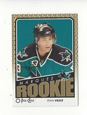 2009-10 O-Pee-Chee #756 Ryan Vesce RC Rookie Sharks