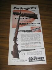 1955 Print Ad Savage Stevens Model 15 Bolt Action 22 Rifles Chicopee Falls,MA