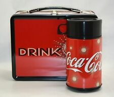 NECA COKE Drink Coca Cola METAL LUNCHBOX W 12 oz Thermos Drink Container NEW Tin