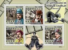 Charlie Chaplin actor film director Sao Tome 2009 m/s MNH Sc. 2102 #ST9301a