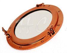 Copper Finish Brass Porthole Mirror~Nautical Ship Cabin Boat Porthole Window