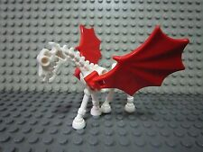 LEGO Castle Kingdoms - White Skeleton Horses w/Red Wing Mini-Figure