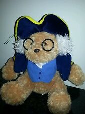 "Aurora presidential George Washington teddy bear plush stuffed animal 10"" exc"