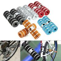 2pcs BMX Mountain Bike Bicycle Axle Pedal Alloy Foot Stunt Pegs Cylinder NEW