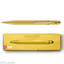 Caran D'ache 849 Ballpoint Ball Pen Gold Bar