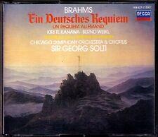 Georg SOLTI: BRAHMS Ein Deutsches Requiem Kiri Te Kanawa Bernd Weikl 2CD German