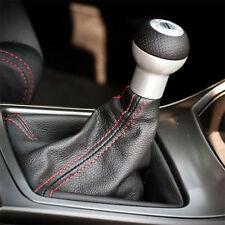 Universal Car Auto Stitch PVC Leather Manual Gear Shifter Shift Knob Boot Cover