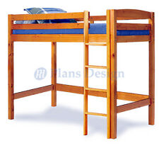 Twin Loft Bunk Bed Woodworking Plans Design #1203, Cutting List Included