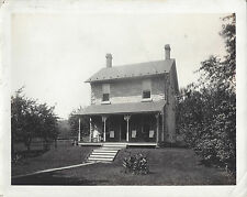 1920s CABINET PHOTO ROBESONIA PA/PENNSYLVANIA STONE HOME W/FOUR ROCKING CHAIRS