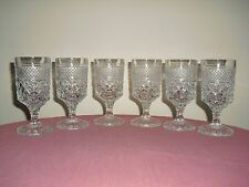 6 WEXFORD Wine Goblets / Glasses - Anchor Hocking