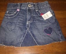 Gap Denim Skirt 18-24m Heart  Love NWT