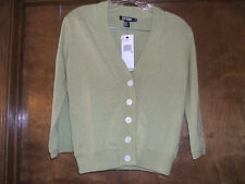 LADIES DKNY GREEN APPLE COLOR 3/4 LENGTH SLEEVE CARDIGAN SWEATER~SZ. MED~NWT$165