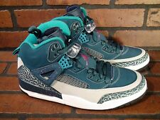 JORDAN Spizike Mens Shoe Size 9.5 NEW 315371-407 Blue Tropical Teal Pink Grey