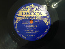 """FELIX KING & HIS PIANO """"Bewitched""""/""""Once In A While"""" 78rpm 10"""" 1950 EX+"""