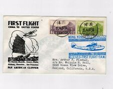 China to USA first flight 1937 Canton Hong Kong to San Francisco Clipper