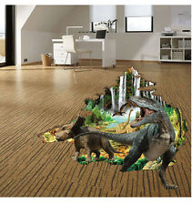 Removable DIY 3D Decor Art Dinosaur Wall Decal Stickers Mural