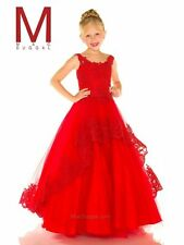 Sugar 48391 Red Lace Tulle Girls Pageant Gown Dress sz 14
