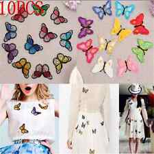 10X Lots DIY Embroidery Butterfly Sew On Patch Badge Embroidered Fabric Applique