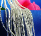 Newly Wholesale Lots 5pcs 925 Sterling Silver 1.4mm Box Chain Necklace 16