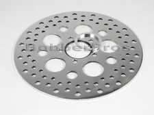 "Harley Brake Disc Rotor Rear 11.5"" Polished Finish Vented Stainless Steel Holes"