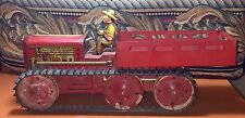 VINTAGE TIN MARX TOY GIANT REVERSING TRACTOR TRUCK with FARMER