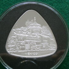 1810-1910 Mexico silver Medal Rail Road and Liberty 2 Oz proof
