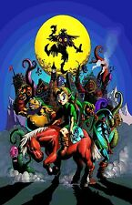 Majoras Mask - Classic N64   -  Huge Poster 34 in x 22 in - Fast Shipping
