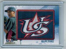 2011 TOPPS USA FELIPE PEREZ REPLICA HAT PATCH CARD 18/25