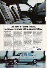 vintage FORD TEMPO 1984 print ad magazine page clipping car automobile advert