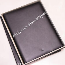 AUTH MONTBLANC BLACK MEISTERSTUCK LARGE NOTEPAD A4 CONFERENCE PAD COWHIDE NEW