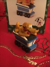 Christmas Disney Hallmark Keepsake Plutos Coal Car Miniature Ornament New In Box